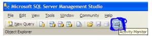 Opening SQL Server Activity Monitor method2